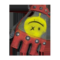 Red and Black Fingerless Gloves