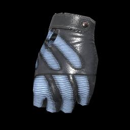 Blue Stripes Fingerless Gloves