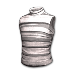 Sleeveless Turtleneck (Gray Striped)