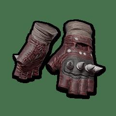 Punk Knuckle Gloves (Red)