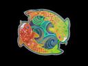 Sticker   Twin Koi (Holo)