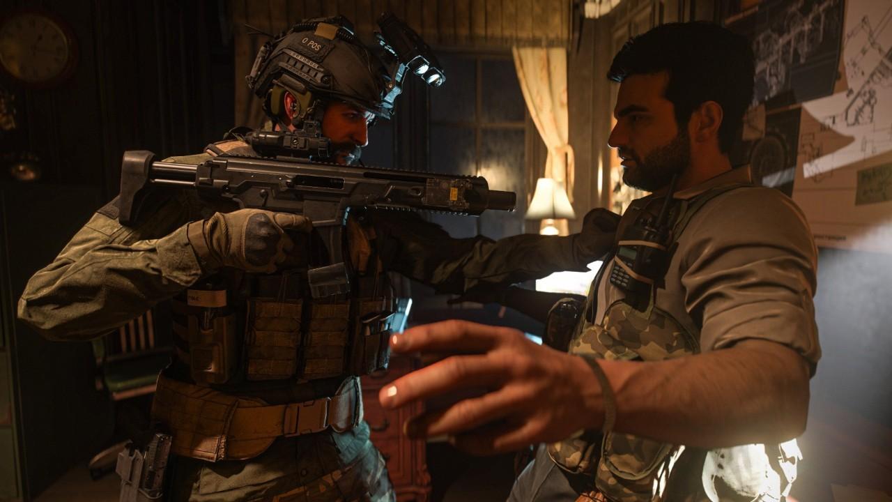《使命召唤:现代战争》游戏画面截图对峙