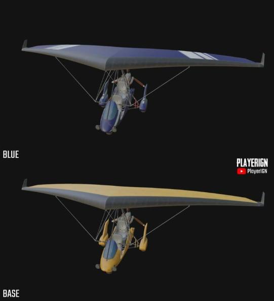 《绝地求生》新载具滑翔机曝光滑翔机皮肤3