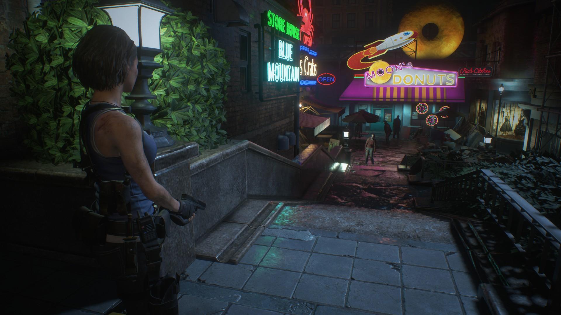 《生化危机3:重制版》实机截图更新,追踪者全身火焰追逐吉尔