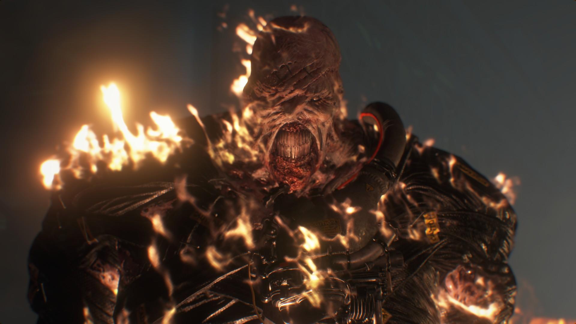 《生化危机3:重制版》实机截图更新,追踪者全身火焰追逐吉尔 (2)